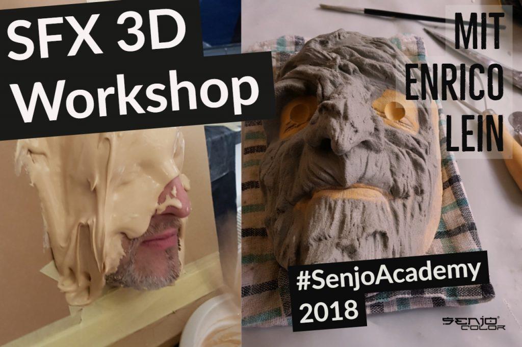 Enrico Abdruck in der Maske