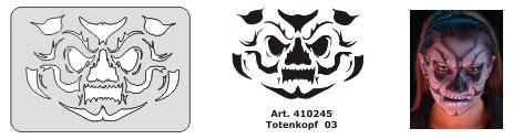 Beispielbild Facepainting Stencil Anwendung