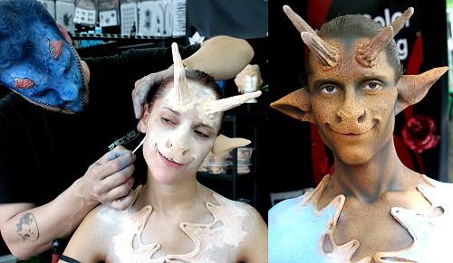 FX Bodypainting mit Enrico Lein für Senjo Color