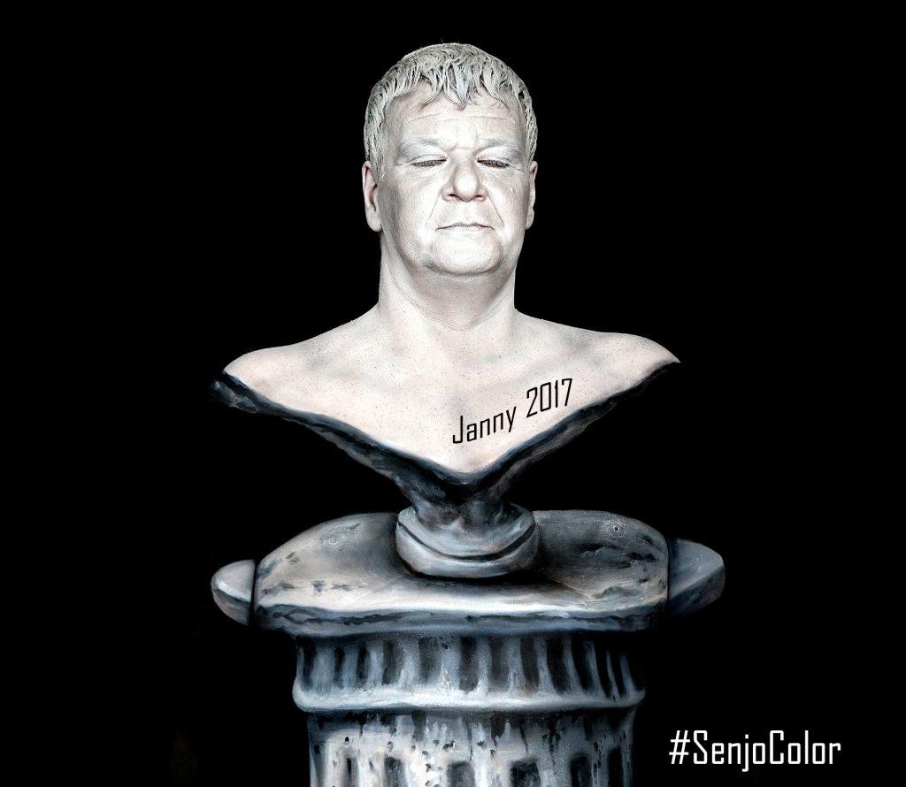 Janny Statue Bodypainting Senjocolor