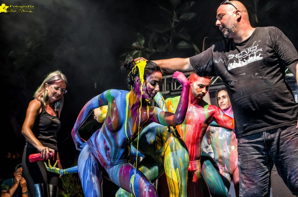 Bühnenshow Teneriffa Bodypainting Festival