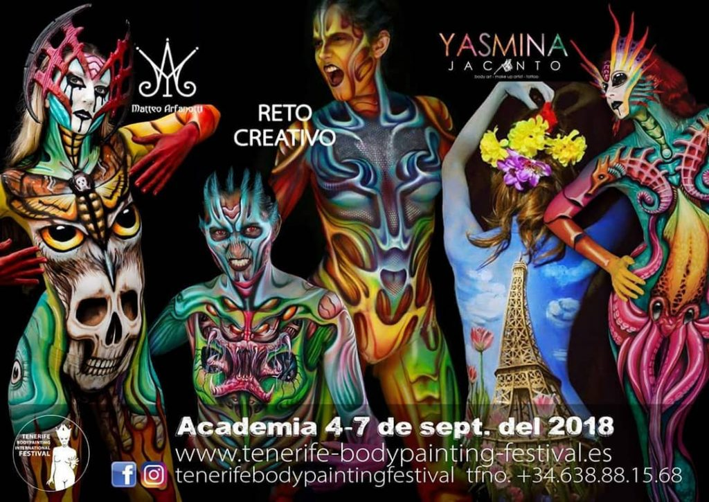 Model Paintings Teneriffa Bodypainting Festival