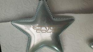 Stern mit aufgelasertem Senjo Color Logo