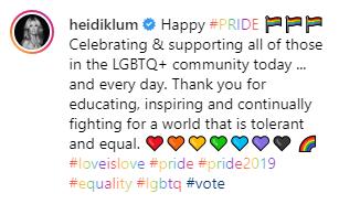 Heidi Klum Instagram Kommentar zum Bodypainting
