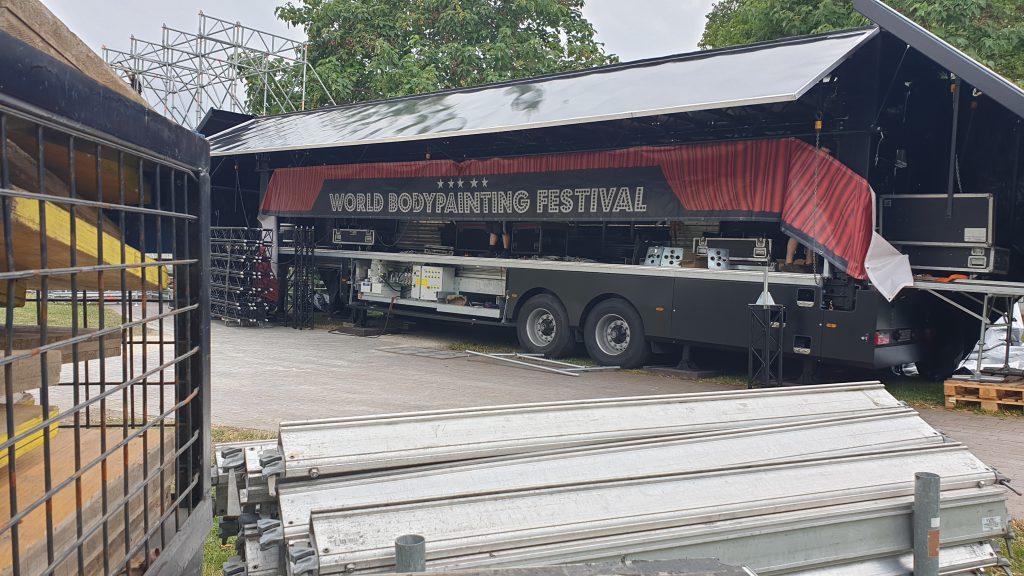 Bühnenaufbau beim WBF 2019